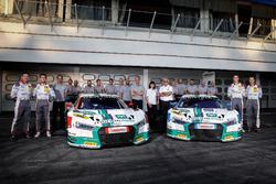 #1 Montaplast by Land-Motorsport, Audi R8 LMS: Connor De Phillippi, Christopher Mies und #2 Montaplast by Land-Motorsport, Audi R8 LMS: Jeffrey Schmidt, Christopher Haase