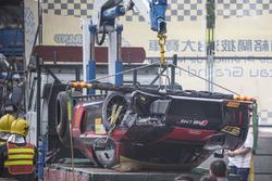 Laurens Vanthoor, Audi Sport Team WRT Audi R8 LMS crash