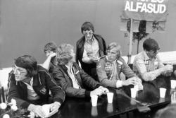 Peter Warr, Ian Scheckter, Max Mosley, Bernie Ecclestone, James Hunt, Ken Tyrrell