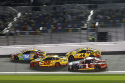 Kyle Busch, Joe Gibbs Racing Toyota; Joey Logano, Team Penske Ford; #22; Jamie McMurray, Chip Ganassi Racing Chevrolet