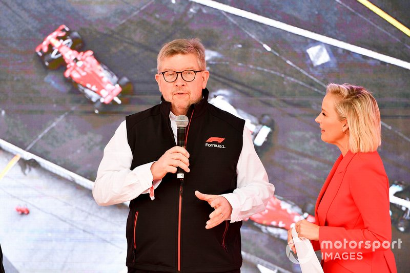 Ross Brawn, Managing Director of Motorsports, FOM, at the Federation Square event