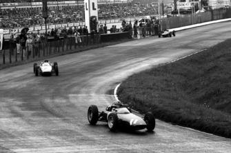 Graham Hill, BRM P57, Dan Gurney, Porsche 804