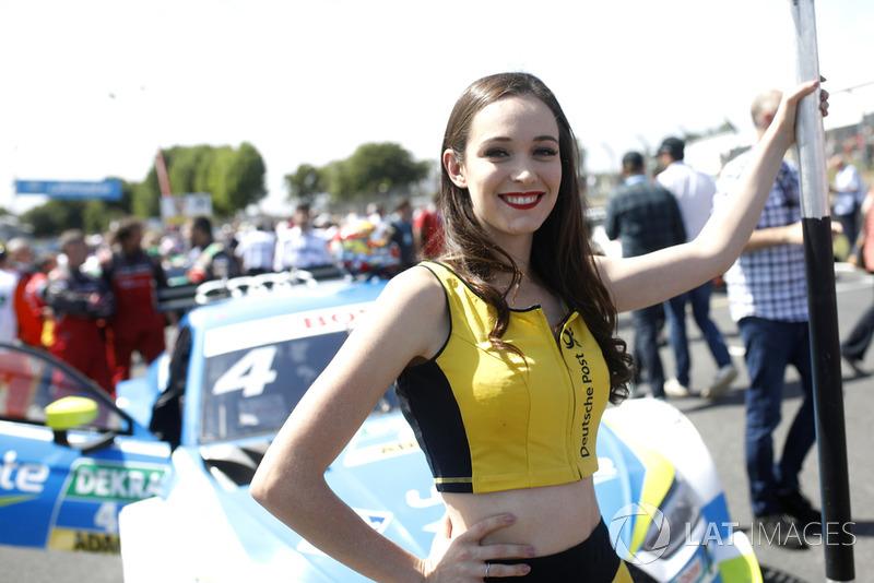 Chica de la parrilla de Robin Frijns, Audi Sport Team Abt Sportsline