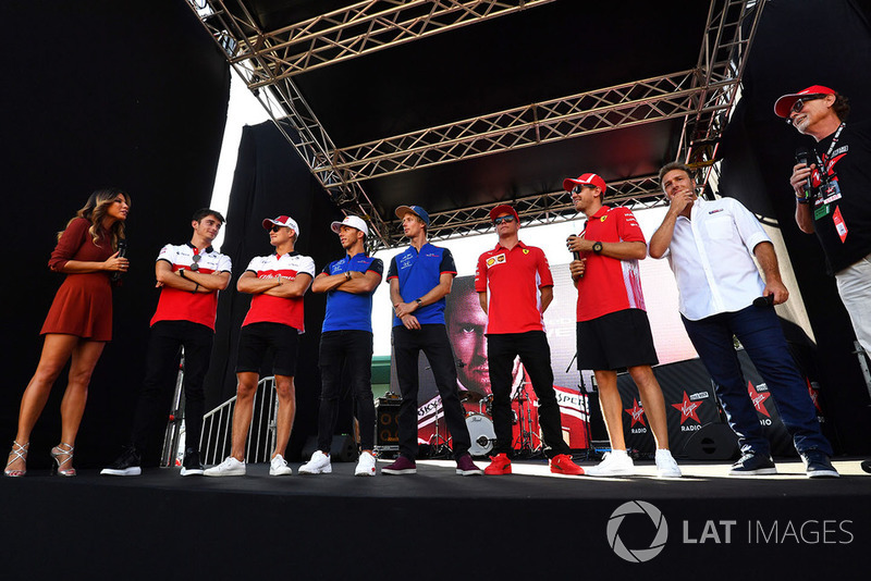 Charles Leclerc, Marcus Ericsson, Pierre Gasly, Brendon Hartley, Kimi Raikkonen et Sebastian Vettel