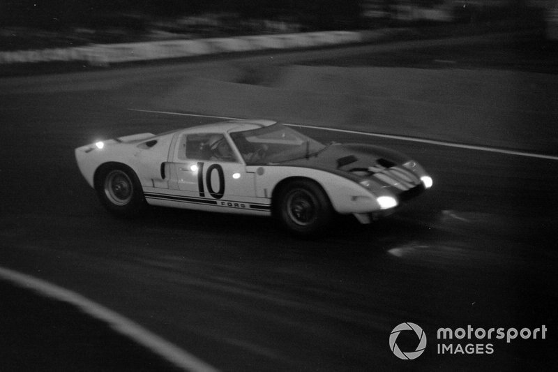 The early versions of the Ford GT40 were somewhat scary to drive given their tendency to lift at the front end, but Hill's input and bravery helped push their development.