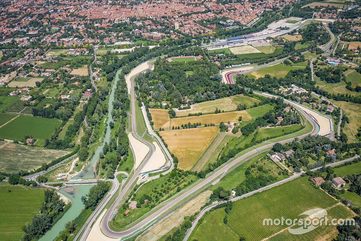 Imola circuit aerial view