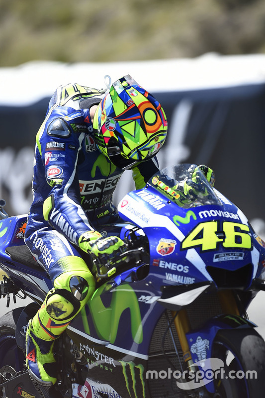 Le vainqueur Valentino Rossi, Yamaha Factory Racing
