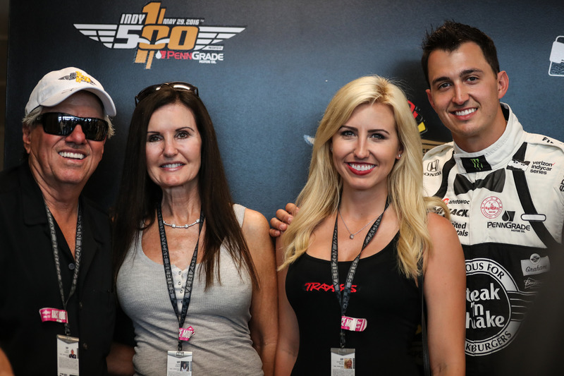 John Force And His Wife Laurie With Graham Rahal And His -9501
