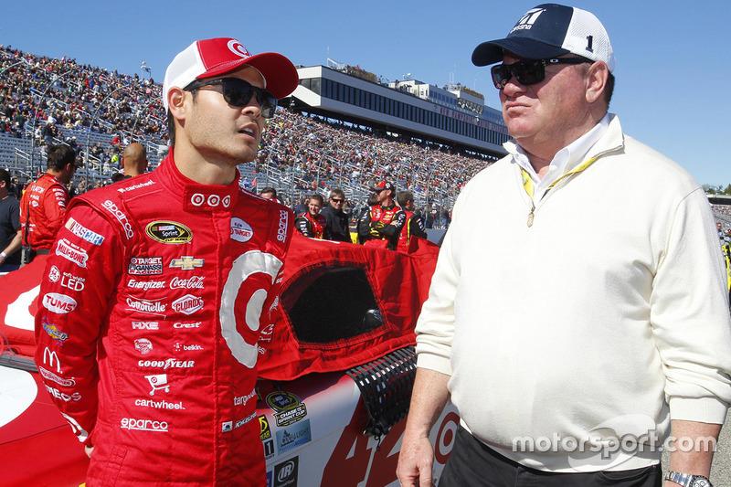 Kyle Larson, Chip Ganassi Racing, Chevrolet, mit Chip Ganassi