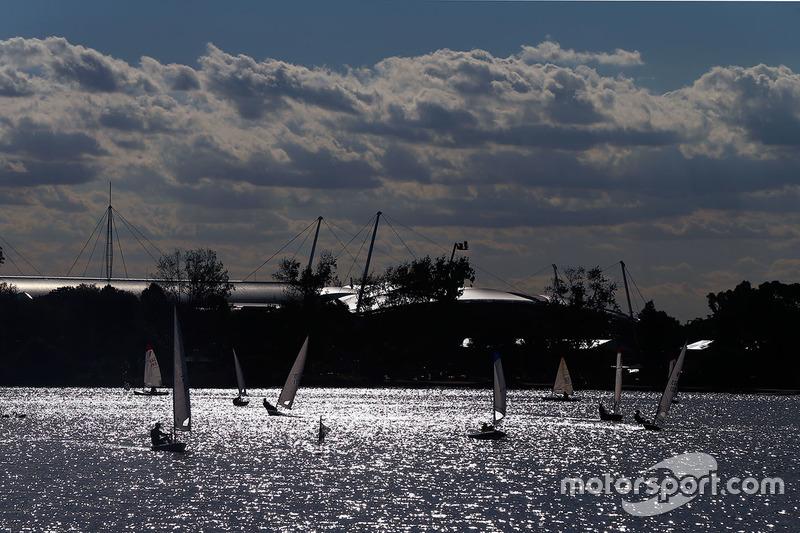 Boot auf dem See im Albert Park