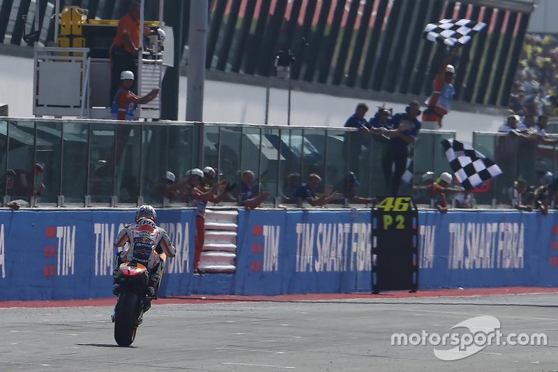 Дані Педроса, Repsol Honda Team фінішує під картатим прапором