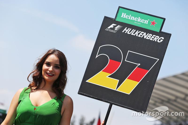 Chica de la parrilla para Nico Hulkenberg, Sahara Force India F1
