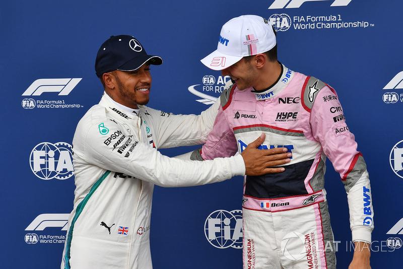 Льюіс Хемілтон, Mercedes AMG F1, Естебан Окон, Racing Point Force India