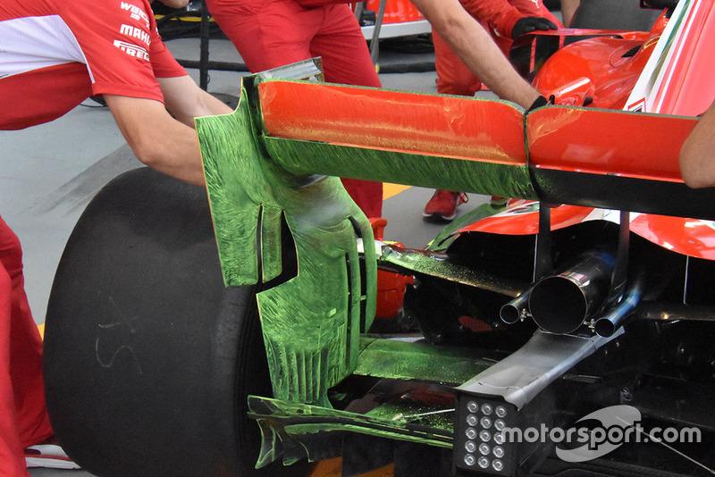 Detail sayap belakang Ferrari