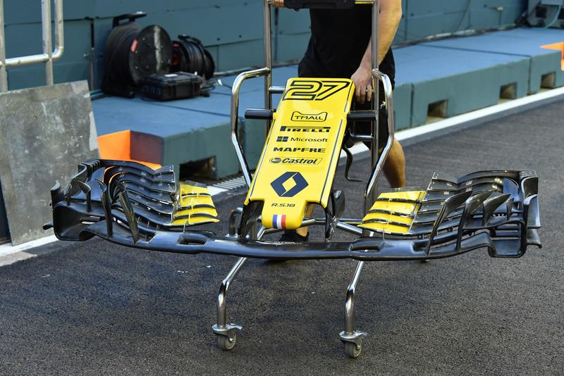Nariz y frontal del Renault Sport F1 Team RS 18