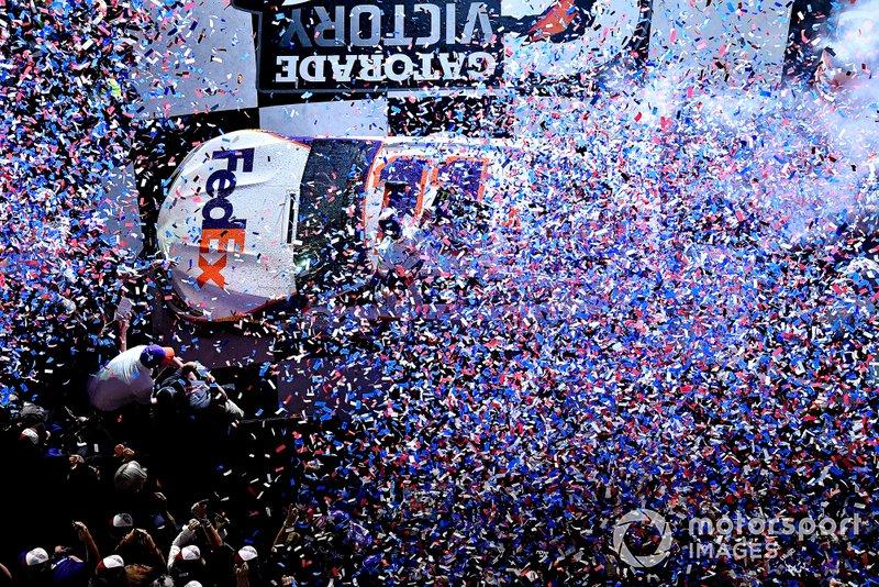 Denny Hamlin, Joe Gibbs Racing, Toyota Camry FedEx Express wins