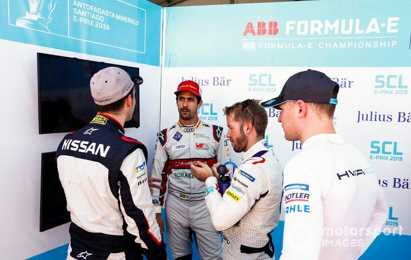 Sébastien Buemi, Nissan e.Dams, Lucas di Grassi, Audi Sport ABT Schaeffler, Sam Bird, Envision Virgin Racing, Stoffel Vandoorne, HWA Racelab during Super Pole