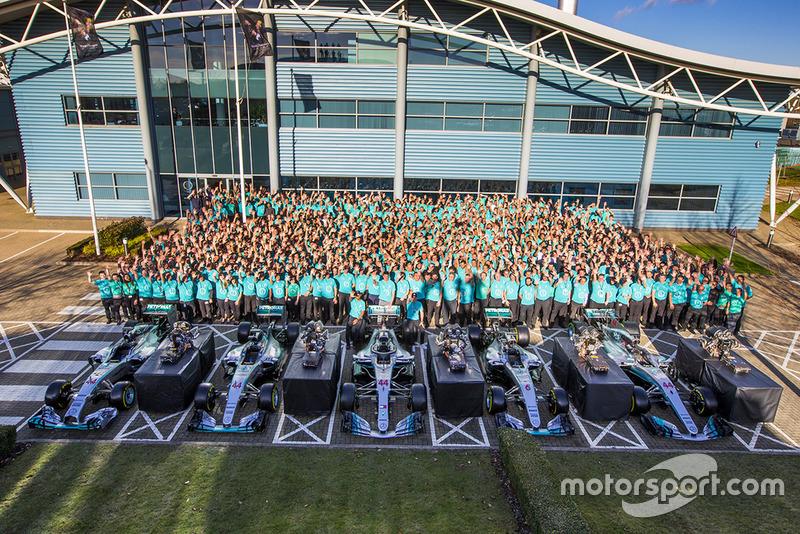 Mercedes AMG F1 viering wereldtitels