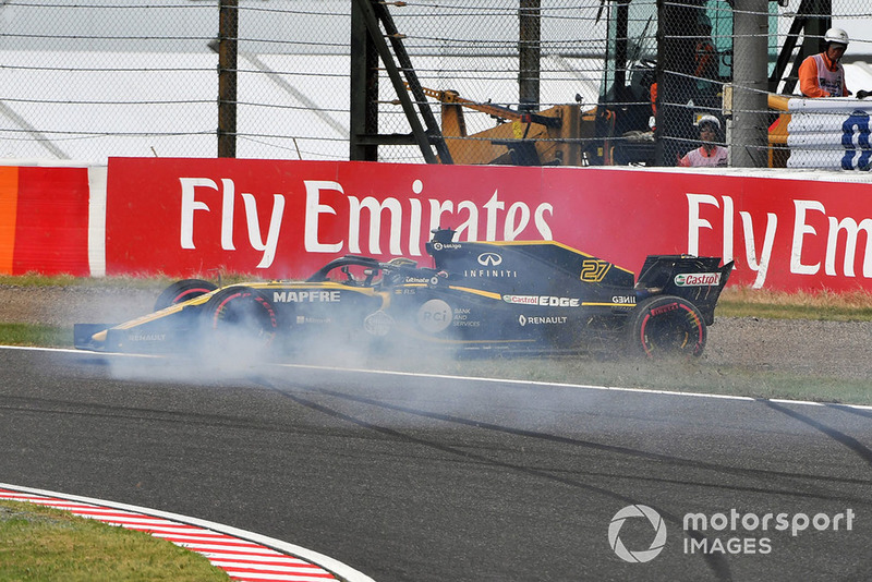 Accident pour Nico Hulkenberg, Renault Sport F1 Team R.S. 18