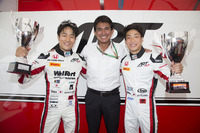 ART Grand Prix race winners, F2 Race two winner Nobuharu Matsushita, ART Grand Prix and GP3 Race one winner Nirei Fukuzumi, ART Grand Prix