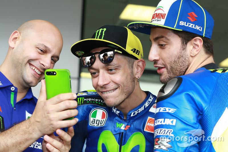 Valentino Rossi et Andrea Iannone