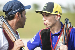 Valentino Rossi, Yamaha Factory Racing, Nasser Al-Attiyah, Losail atıcılık kulübünde