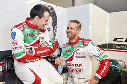 Norbert Michelisz, Honda Racing Team JAS, Honda Civic WTCC; Tiago Monteiro, Honda Racing Team JAS, Honda Civic WTCC