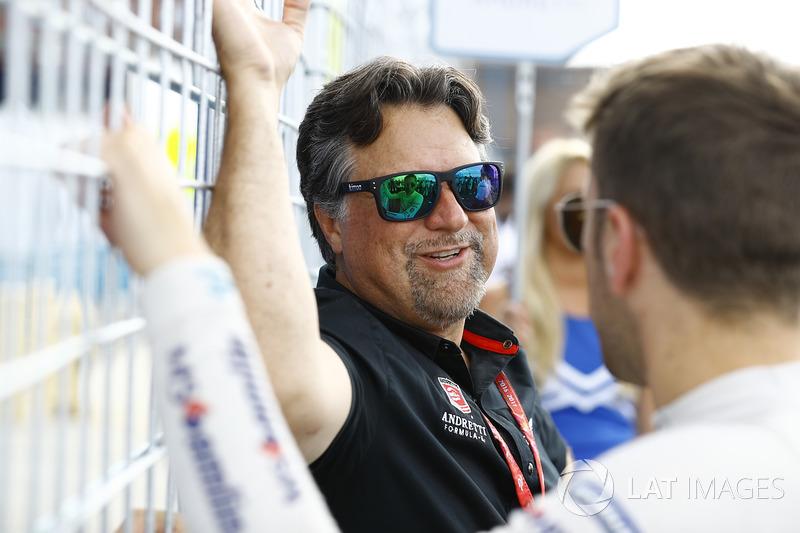 Michael Andretti con Antonio Felix da Costa, Amlin Andretti Formula E Team