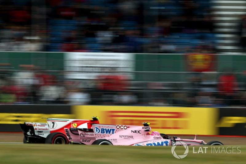 Естебан окон, Sahara Force India VJM10, Кімі Райкконен, Ferrari SF70H