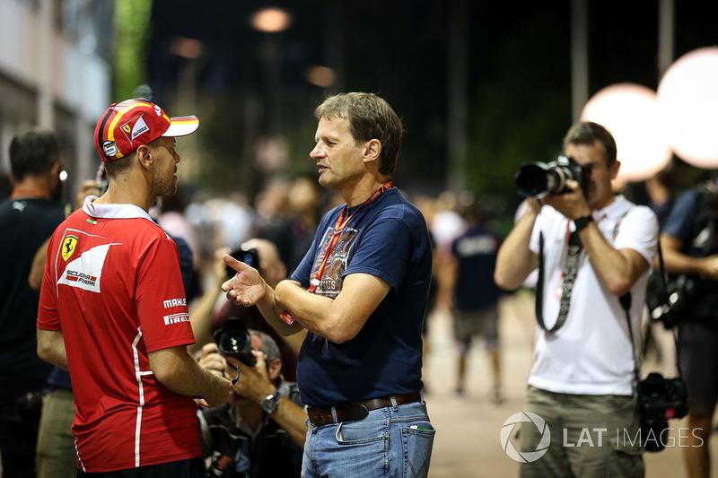 Sebastian Vettel, Ferrari and Michael Schmidt, Journalist