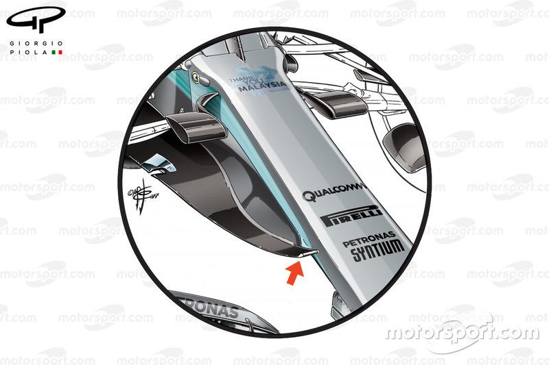 """الأنف الجديد لسيارة مرسيدس """"دبليو08"""" في ماليزيا"""