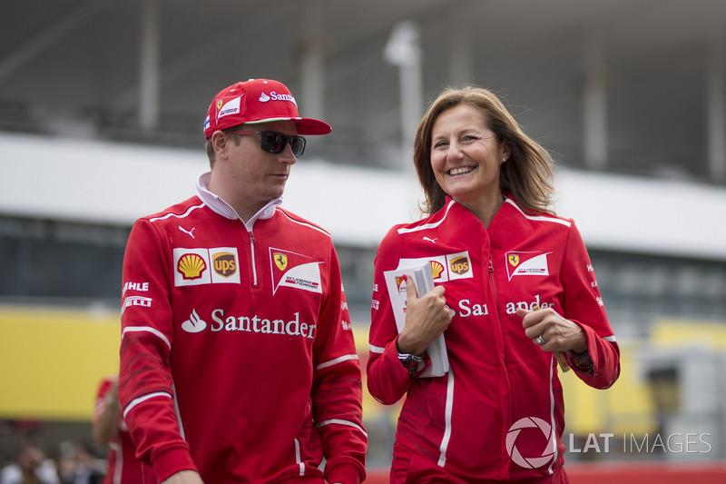 Кімі Райкконен, Ferrari, прес-аташе Ferrari Стефанія Боккі