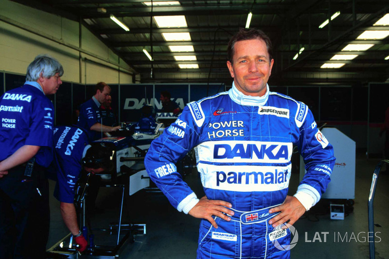 Martin Brundle tests the Arrows F1 Car