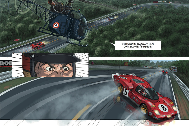 Steve McQueen en la novela gráfica de Le Mans