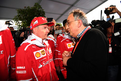 Sergio Marchionne, CEO FIAT and Kimi Raikkonen, Ferrari at Ferrari 70th Anniversary