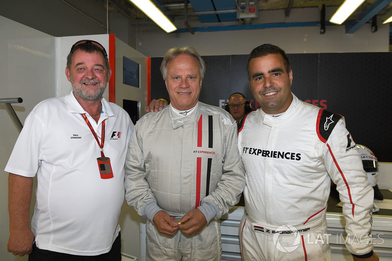 Paul Stoddart, F1 Experiences 2-Seater passenger Gene Haas F1 Team, Founder and Chairman, Haas F1 Team Team and Zsolt Baumgartner, F1 Experiences 2-Seater driver