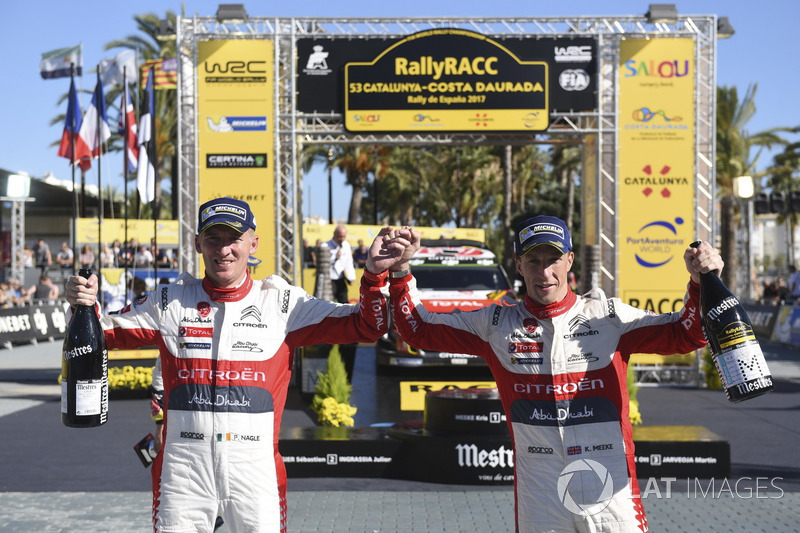 Winners Kris Meeke, Paul Nagle, Citroën C3 WRC, Citroën World Rally Team