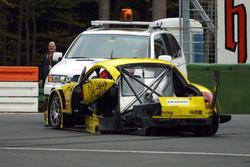 Damaged car of Martin Tomczyk