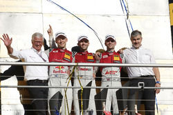 Champion Podium: Champion René Rast, Audi Sport Team Rosberg, Audi RS 5 DTM, second place Mattias Ekström, Audi Sport Team Abt Sportsline, Audi A5 DTM, third place Jamie Green, Audi Sport Team Rosberg, Audi RS 5 DTM, Dieter Gass, Head of DTM Audi Sport and