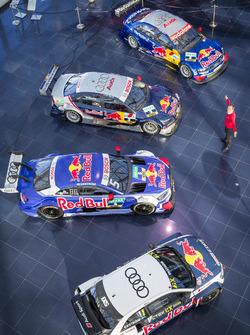 Mattias Ekström met de DTM-wagens en zijn EKS Audi S1 quattro WRX