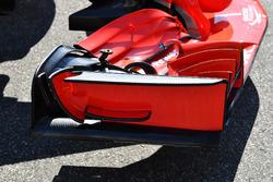 Ferrari SF71H detalle del ala frontal