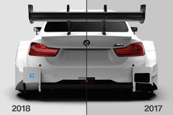 Vergleich Aerodynamik BMW M4 DTM 2017 und 2018