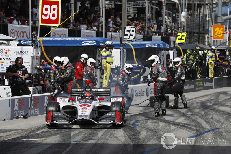 Marco Andretti, Herta - Andretti Autosport Honda, au stand
