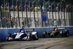 Graham Rahal, Rahal Letterman Lanigan Racing Honda, James Hinchcliffe, Schmidt Peterson Motorsports