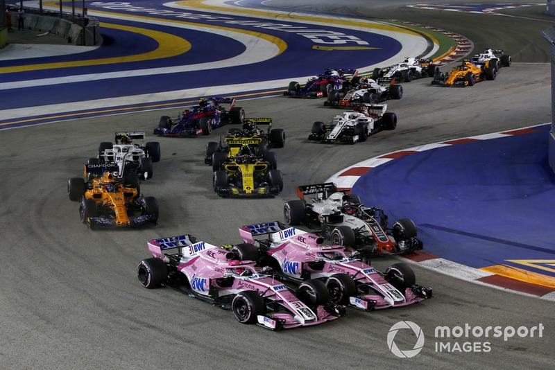 Singapur - Esteban Ocon/Sergio Pérez (carrera)