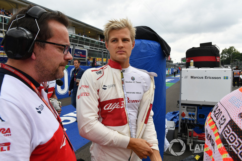 Marcus Ericsson, Alfa Romeo Sauber F1 Team on the grid