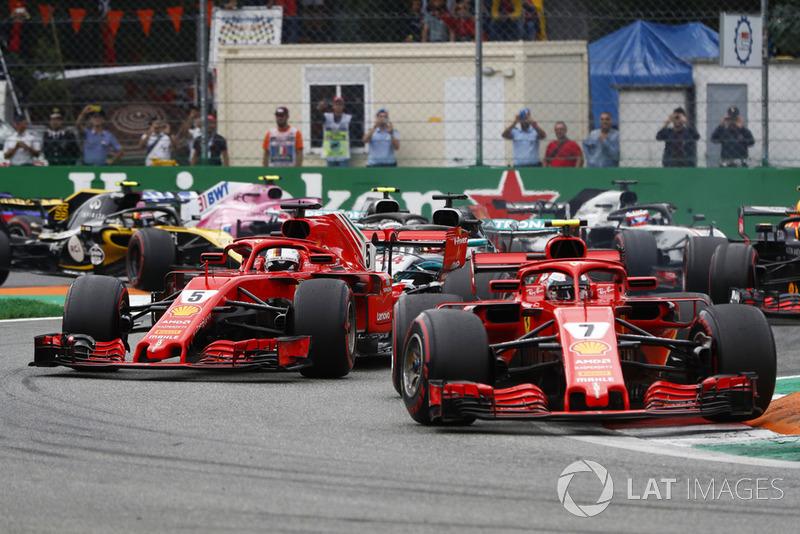 Na pista, Kimi Raikkonen conseguiu se livrar dos oponentes logo no início