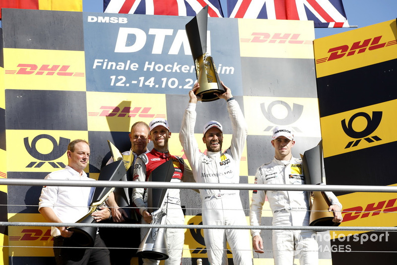 Campeón, Gary Paffett, Mercedes-AMG Team HWA, segundo, René Rast, Audi Sport Team Rosberg, tercero, Paul Di Resta, Mercedes-AMG Team HWA, Ullrich Fritz, jefe del Mercedes-AMG HWA