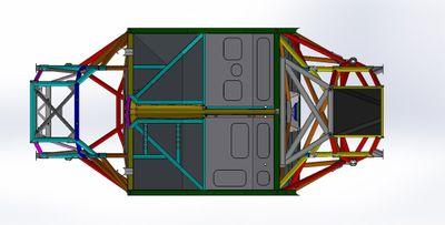 Gen3 şasisi CAD çizimi
