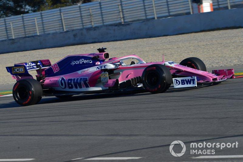 14º Lance Stroll, Racing Point F1 Team RP19, 1:17.556 (neumáticos C5, día 7)